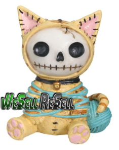 cat skullface figurine
