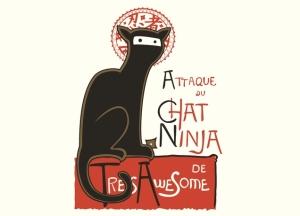 French Ninja Cat tee at threadlees.com