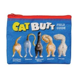 cat butt field guide coin purse